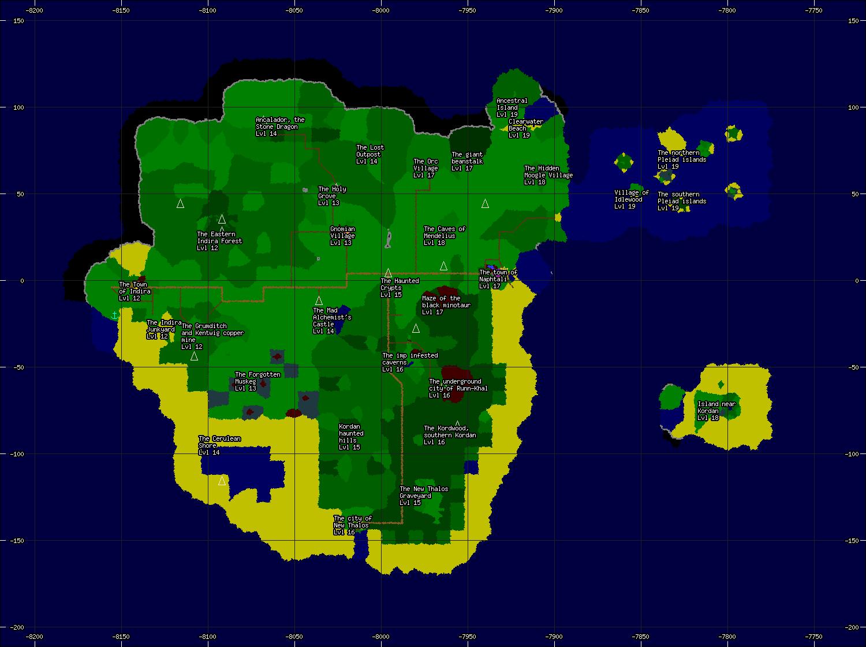 Area Map of the Island of Kordan